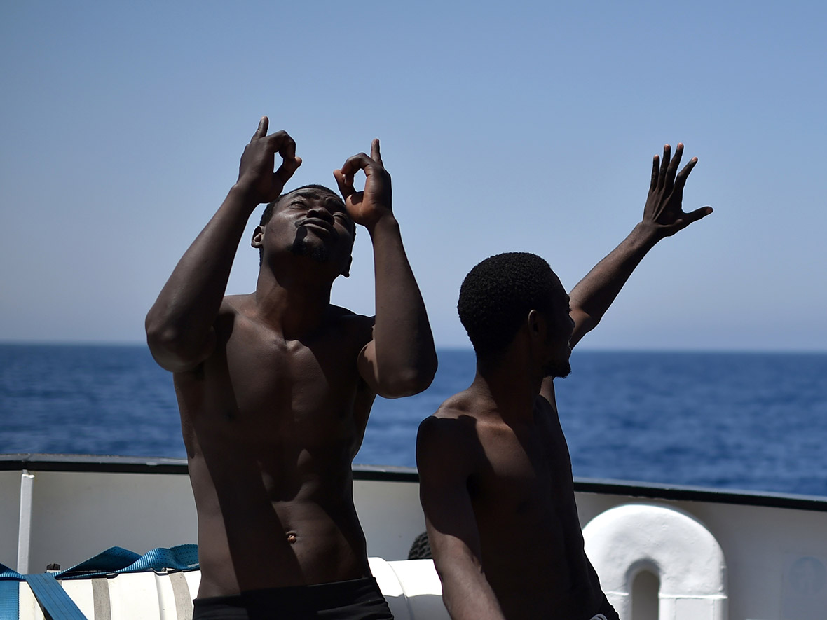 refugees migrants rescued Aquarius