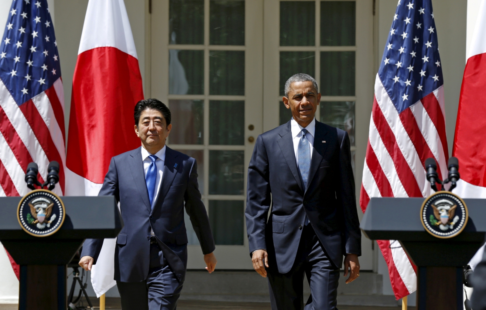 Japanese PM with Obama