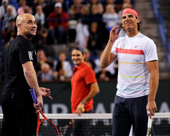 Rafael Nadal andre agassi
