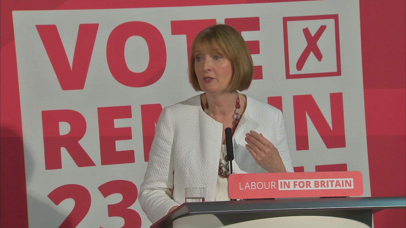 Harriet Harman:Women excluded from Brexit debate