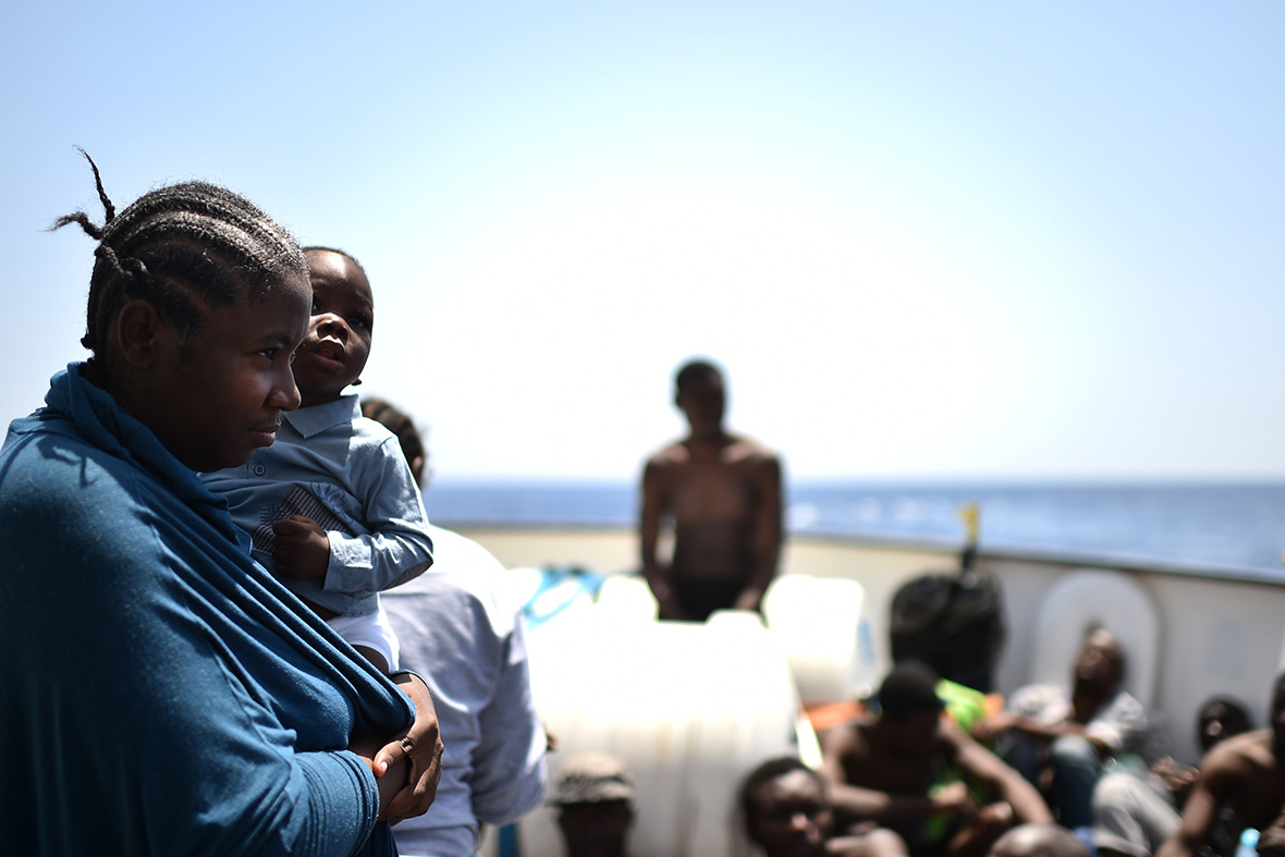 Refugees Libyan coast