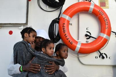 Refugees Libyan coast