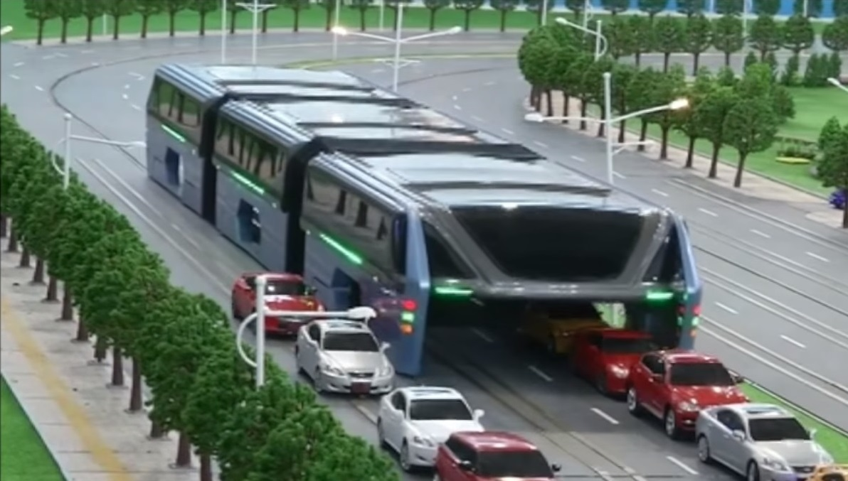 China S Futuristic Hover Bus Takes A Unique Approach To
