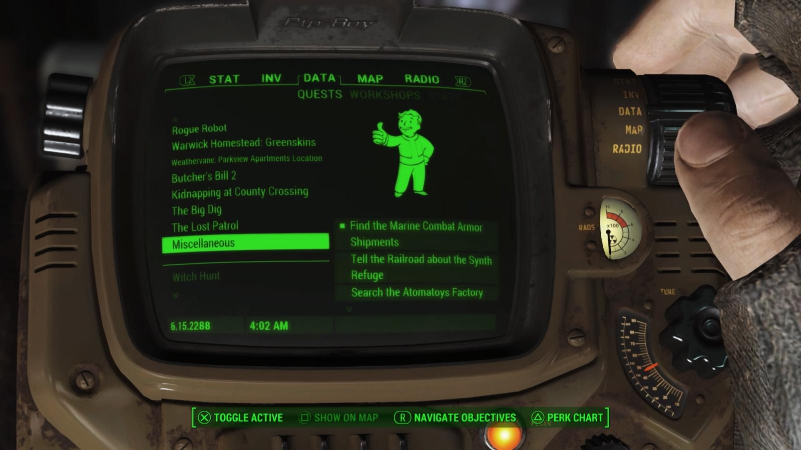 fallout 4 far harbor guide marine combat armor and legendary recon
