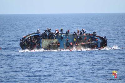 Image provided by the Italian navy
