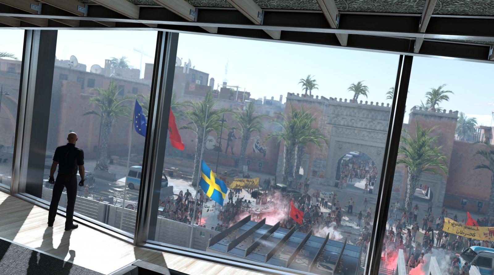Hitman Episode Three Marrakesh Protest