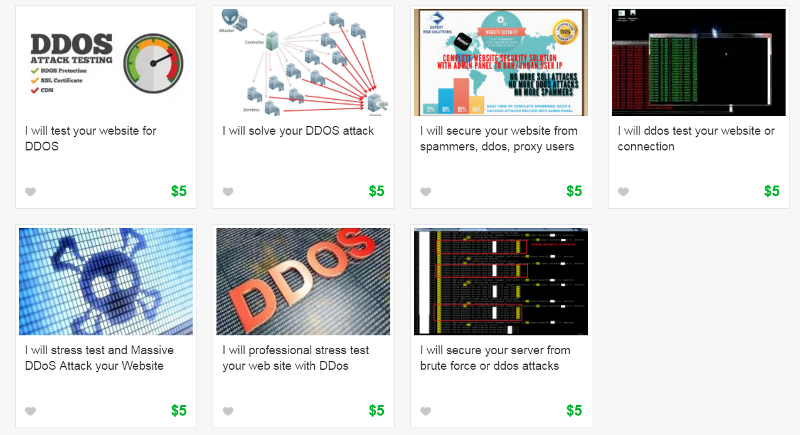 DDoS botnets going for $5 on online marketplace Fiverr