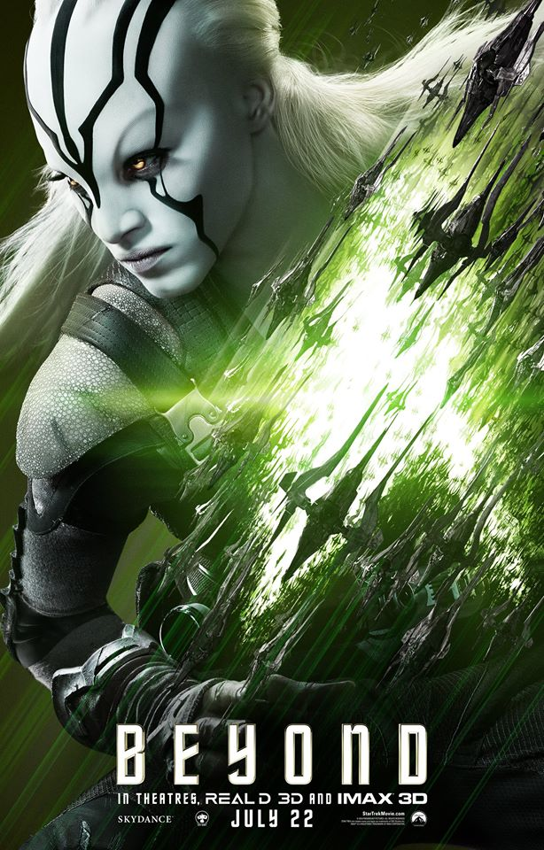 First star trek beyond character posters feature sofia - Jaylah sofia boutella ...