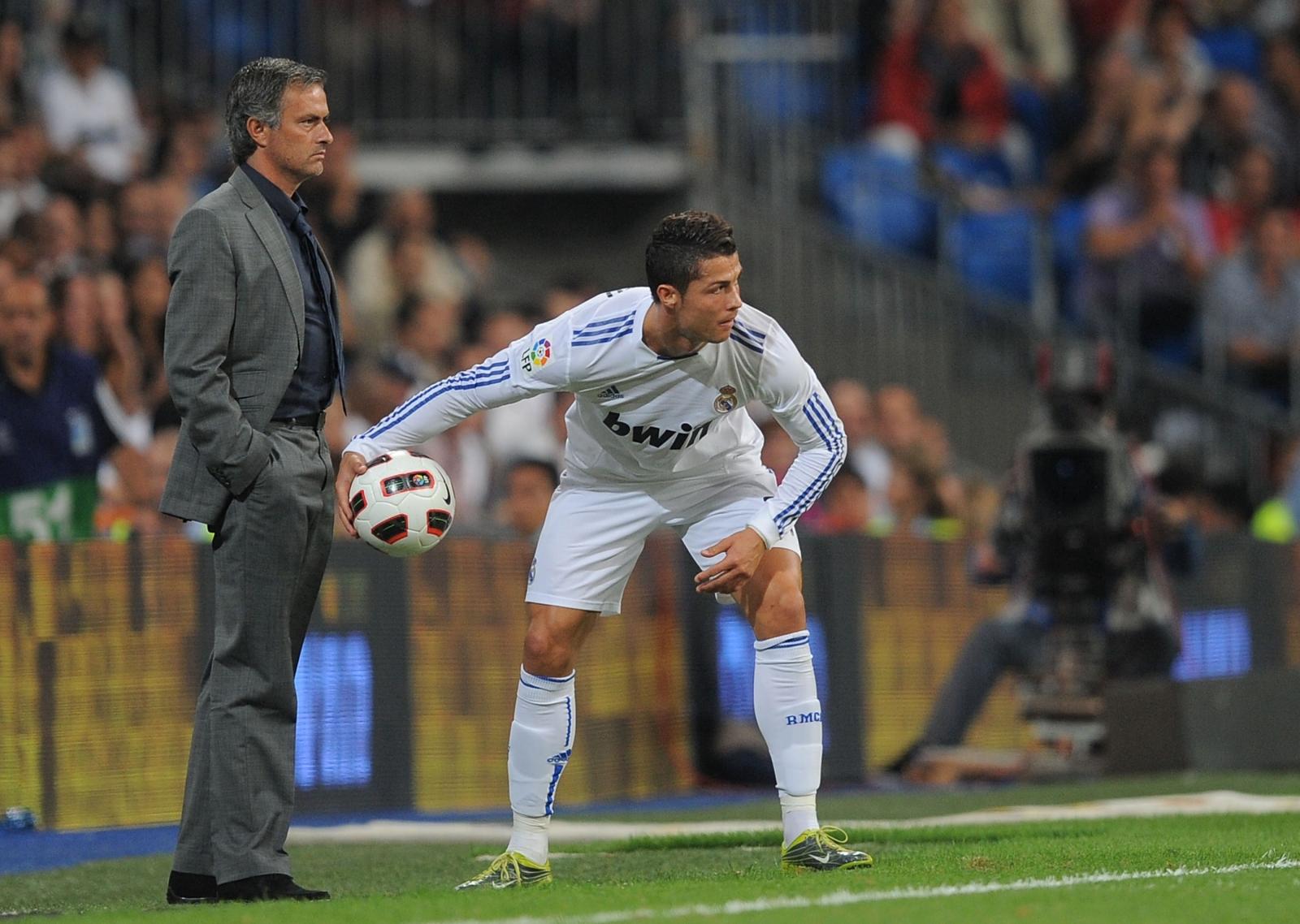Jose Mourinho (left) and Cristiano Ronaldo