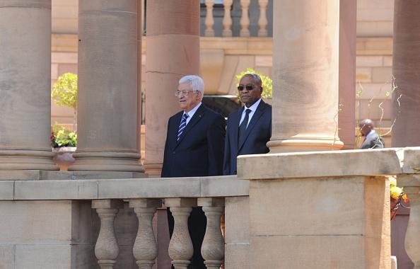 Mahmoud Abbas and Jacob Zuma
