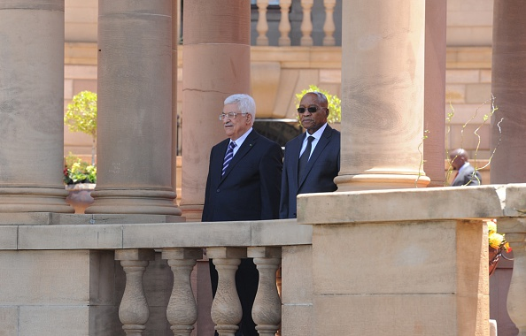 Mahmoud Abbas and Jacob Zuma