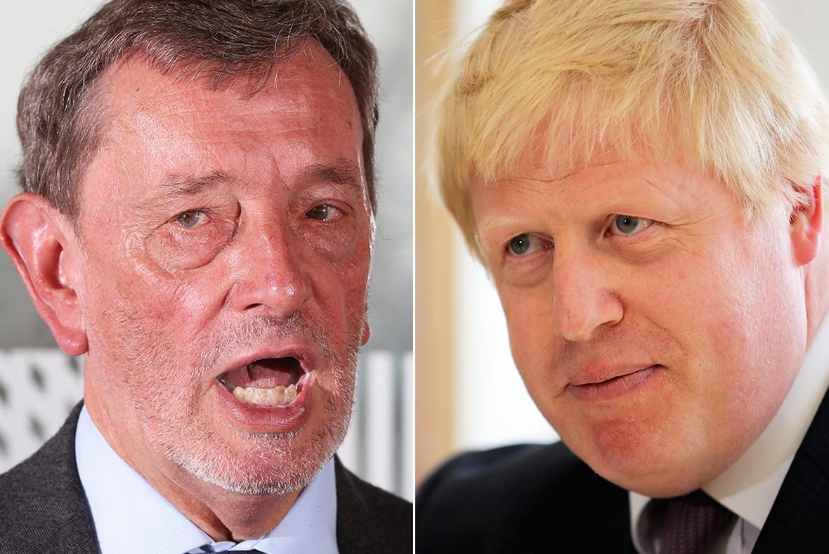 David Blunkett, Boris Johnson