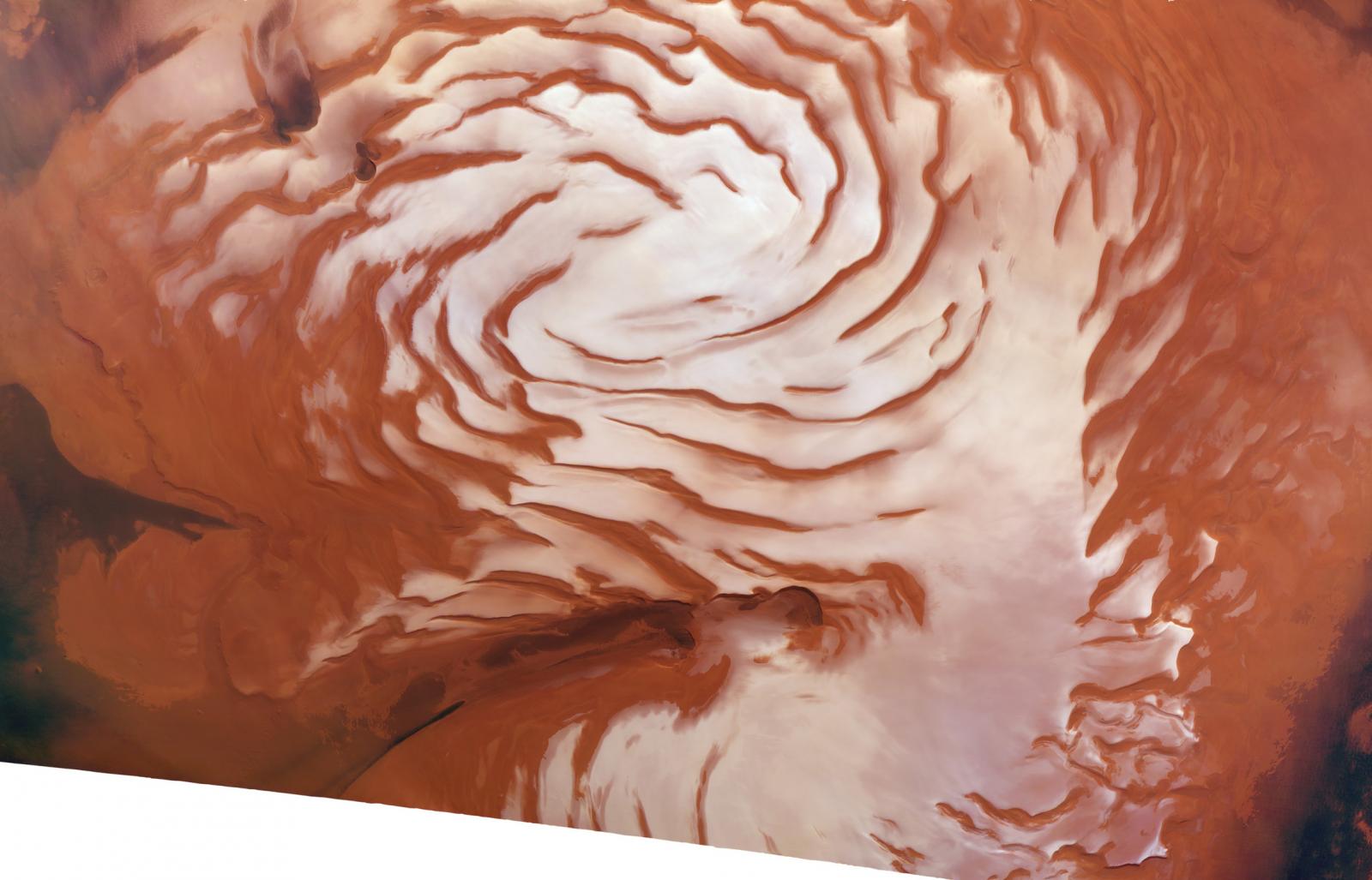 Mars north pole