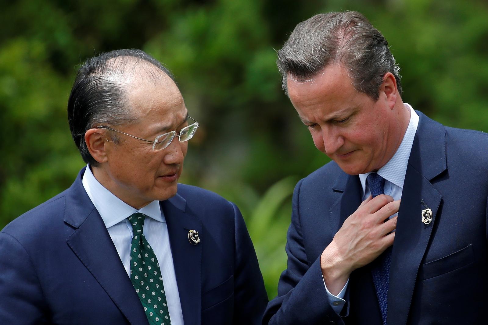 Jim Yong Kim and David Cameron