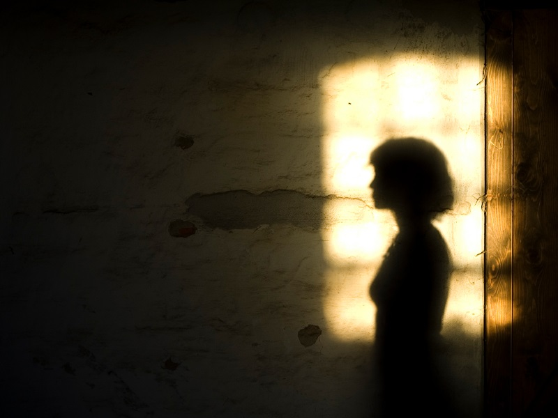 woman in shadow