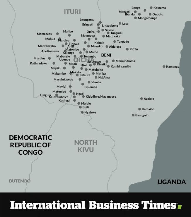 Map of massacres DRC