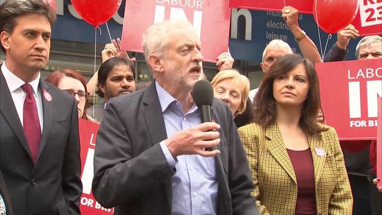 EU Referendum: Ed Miliband and Jeremy Corbyn unite to back remain campaign