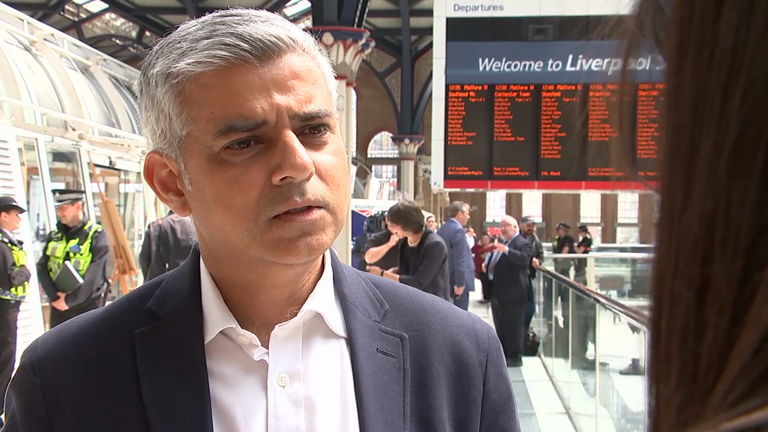 London Mayor Saqid Khan warns London could be 'next target for terrorists'