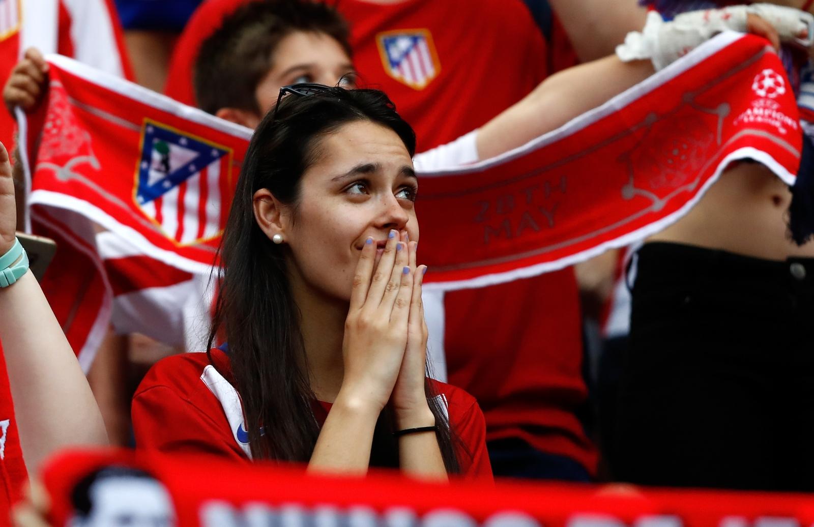 Atletico fans at the San Siro