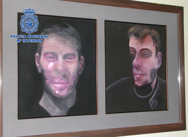 francis bacon stolen painting arrests spain