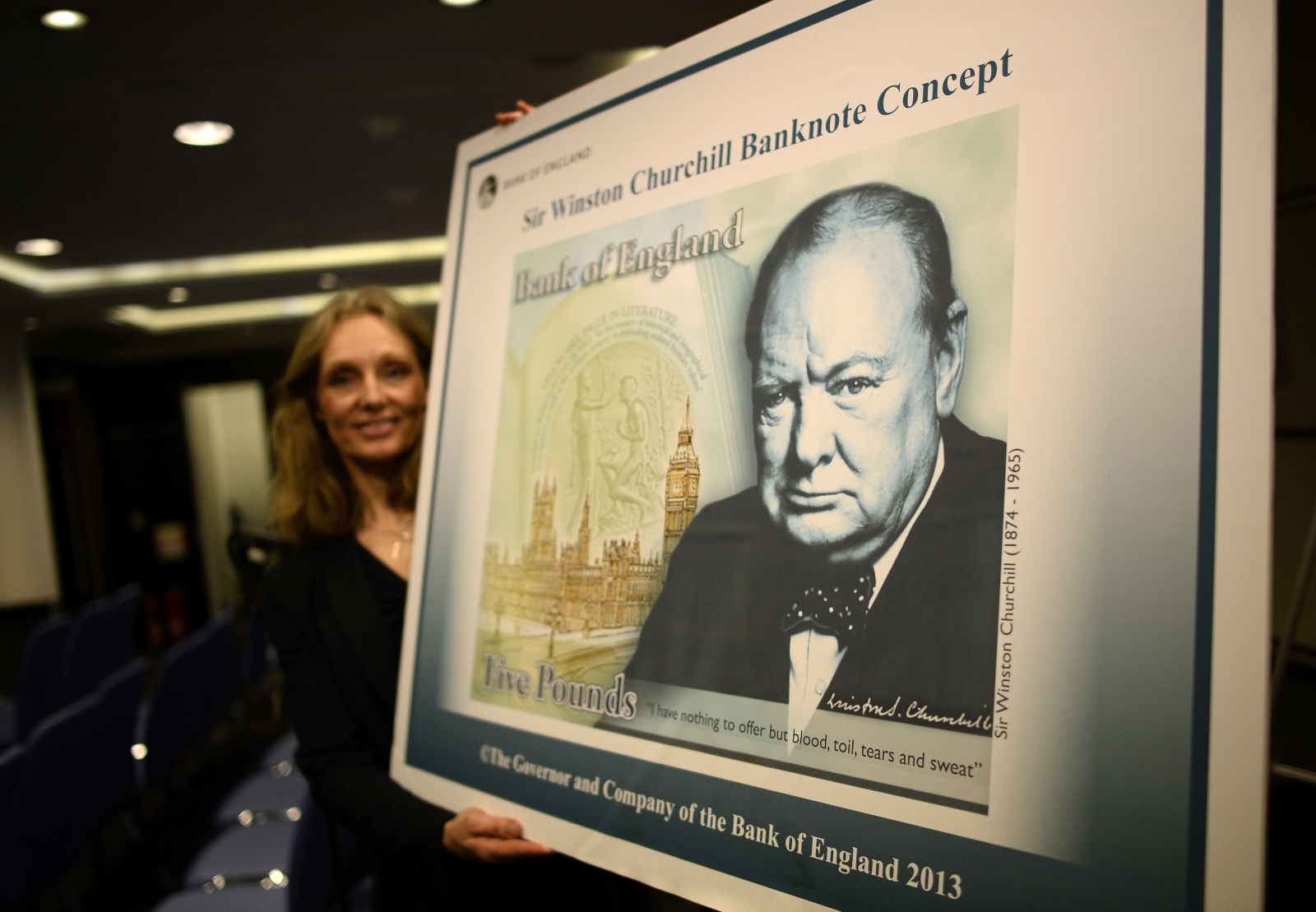 Churchill on the £5 note concept