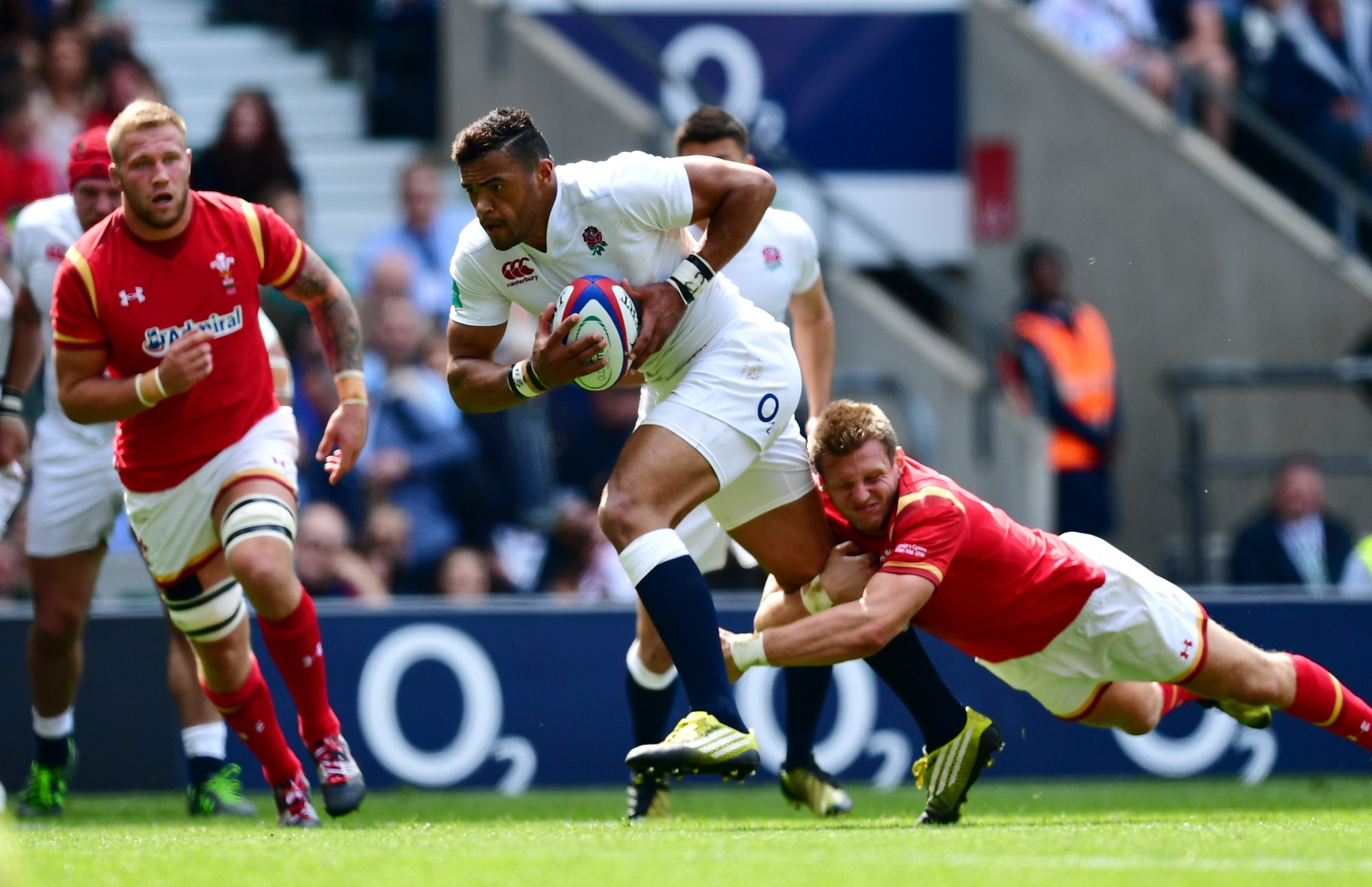 Luther Burrell scored one of England's tries