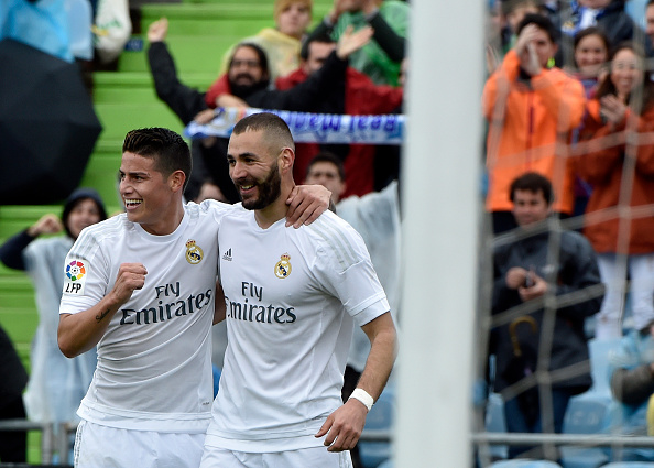 Karim Benzema and James Rodriguez