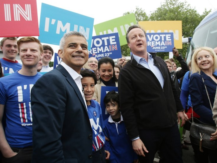 David Cameron and Sadiq Khan