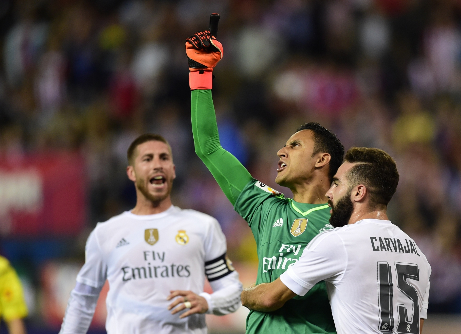Keylor Navas and Dani Carvajal