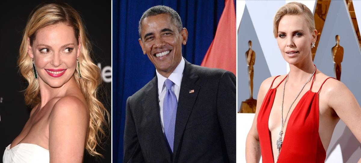 Katherine Heigl, Barack Obama and Charlize Theron