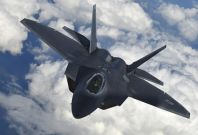 US F-22 Raptor fighter jet