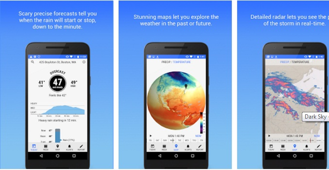 The Dark Sky app for Google