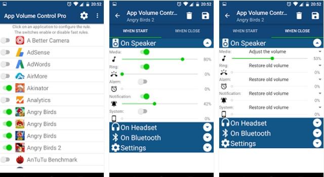 The App control volume app
