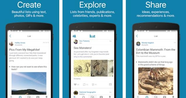 The Li.st app for Google