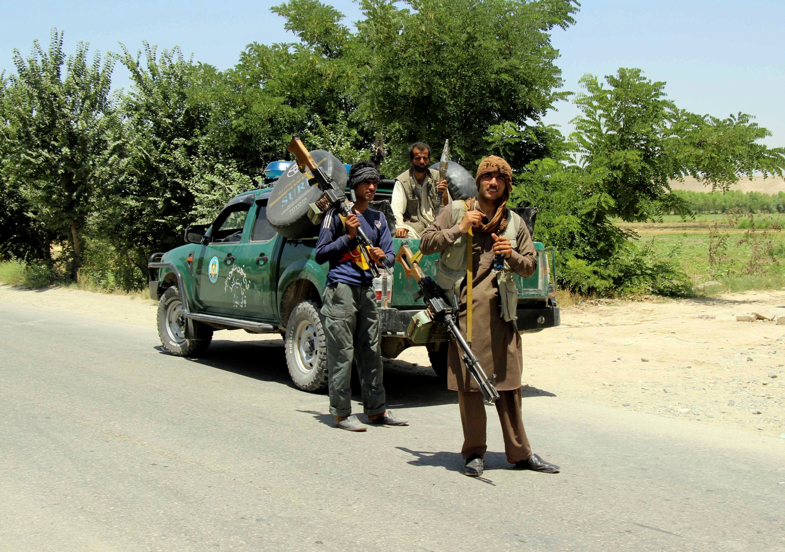 Afghan local police in Kunduz
