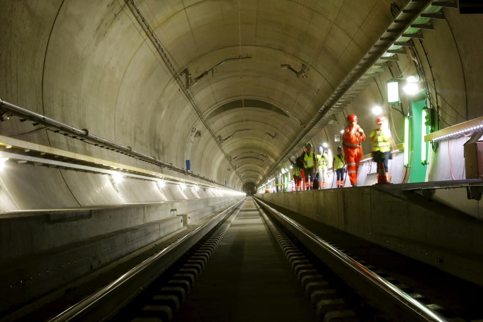Gotthard base tunnel Swiss Alps