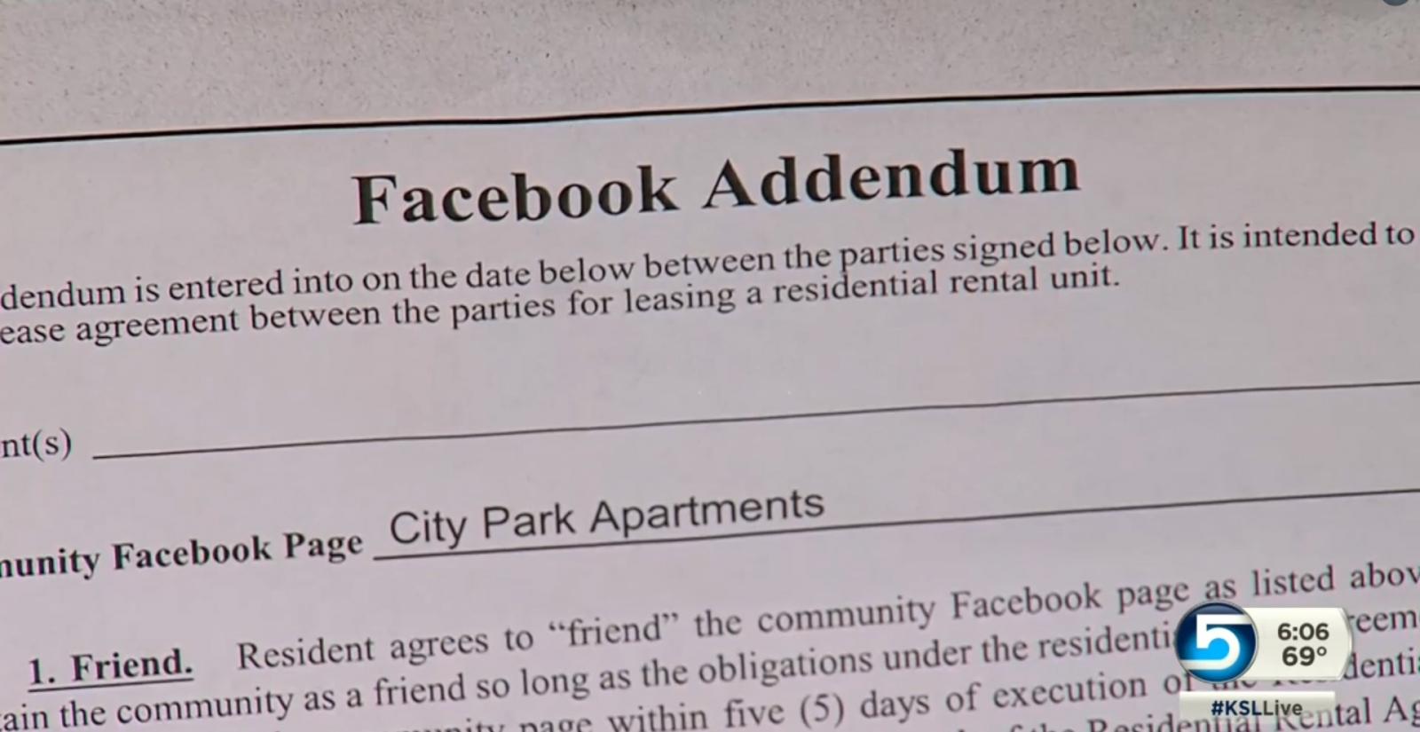 Facebook Addendum