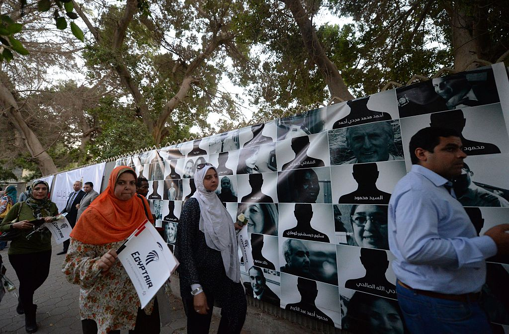 A Cairo poster of the 66 victims