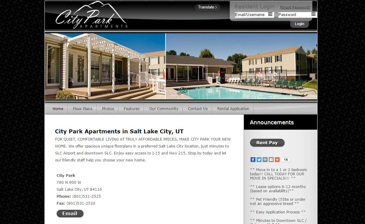 City Park Apartments official website
