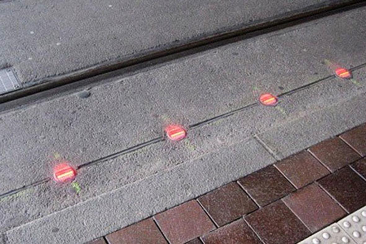 Ground level traffic lights