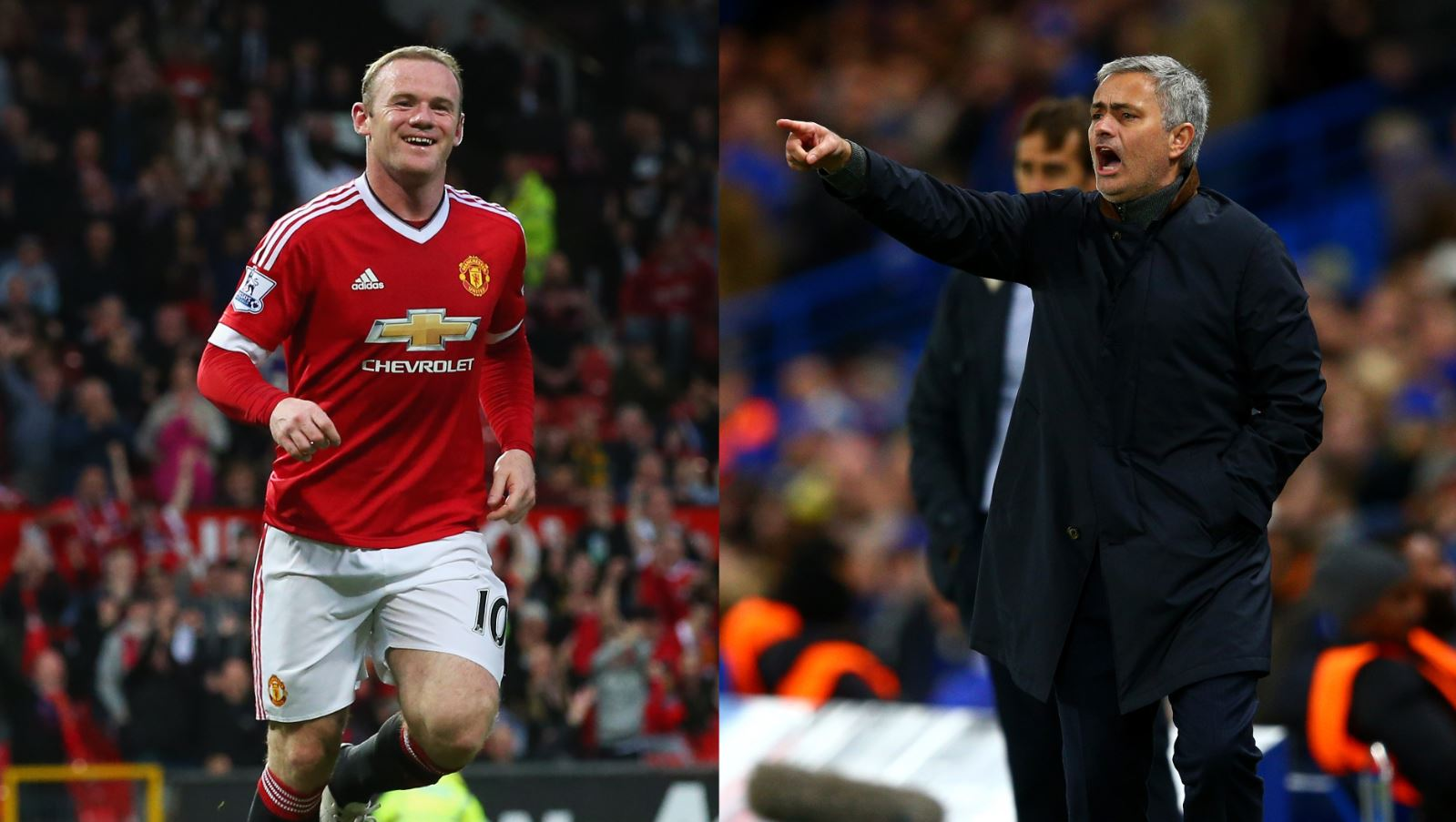 Wayne Rooney and Jose Mourinho