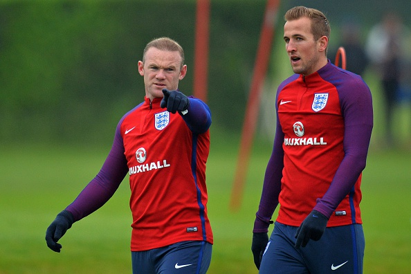Harry Kane and Wayne Rooney