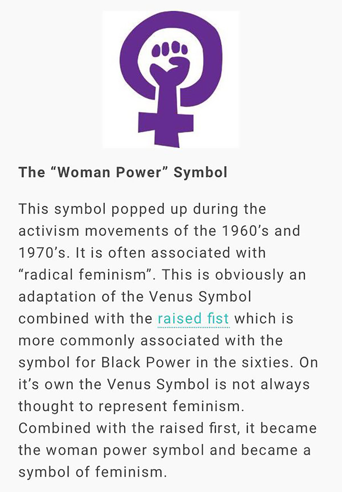 Woman power symbol