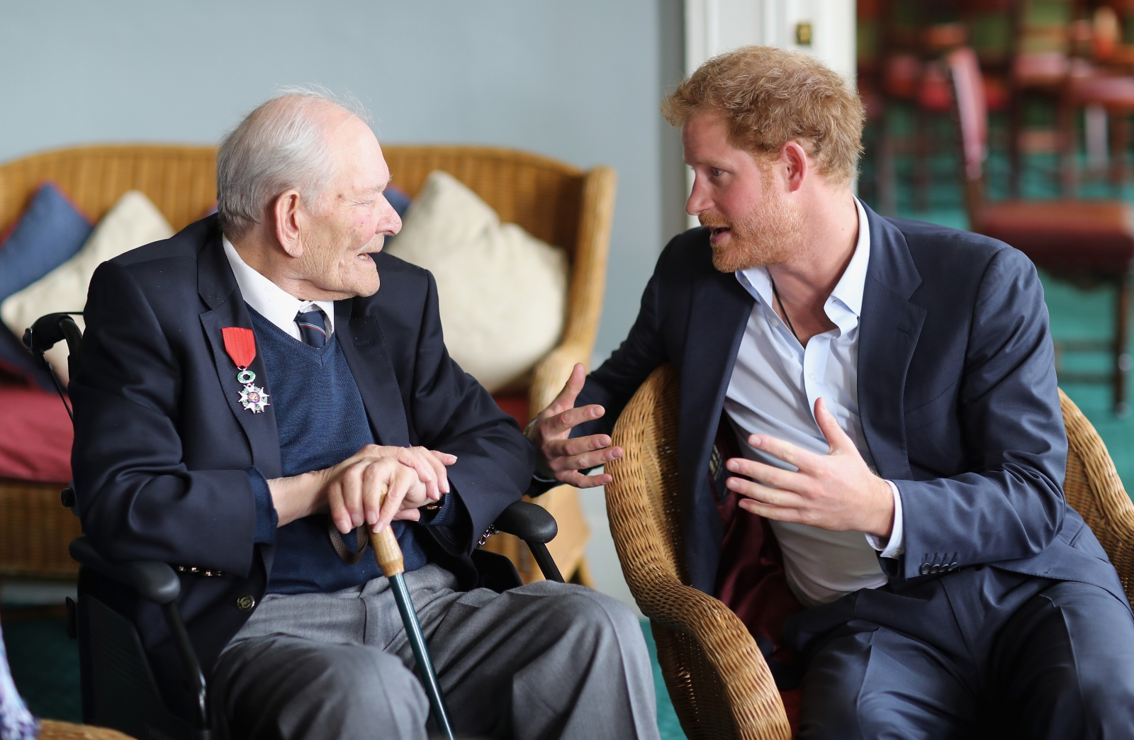 Prince Harry and Anthony Colgan