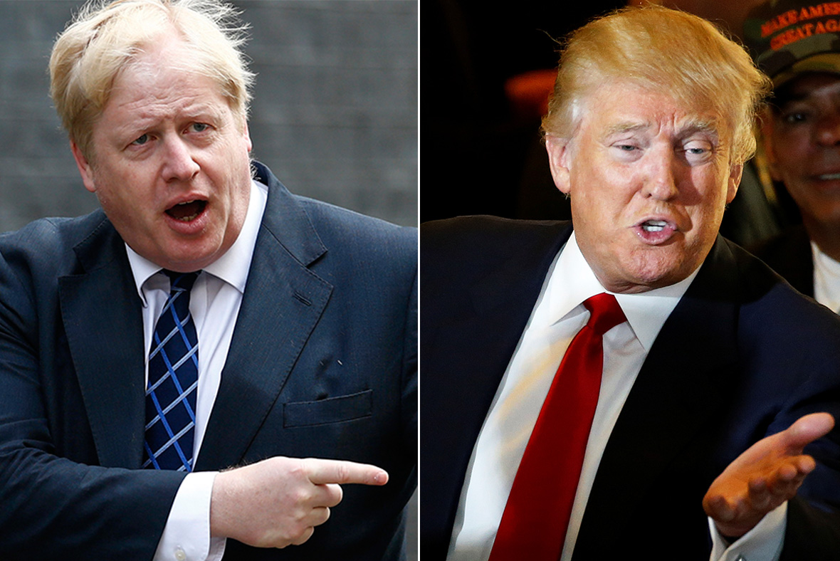 Boris Johnson, Donald Trump