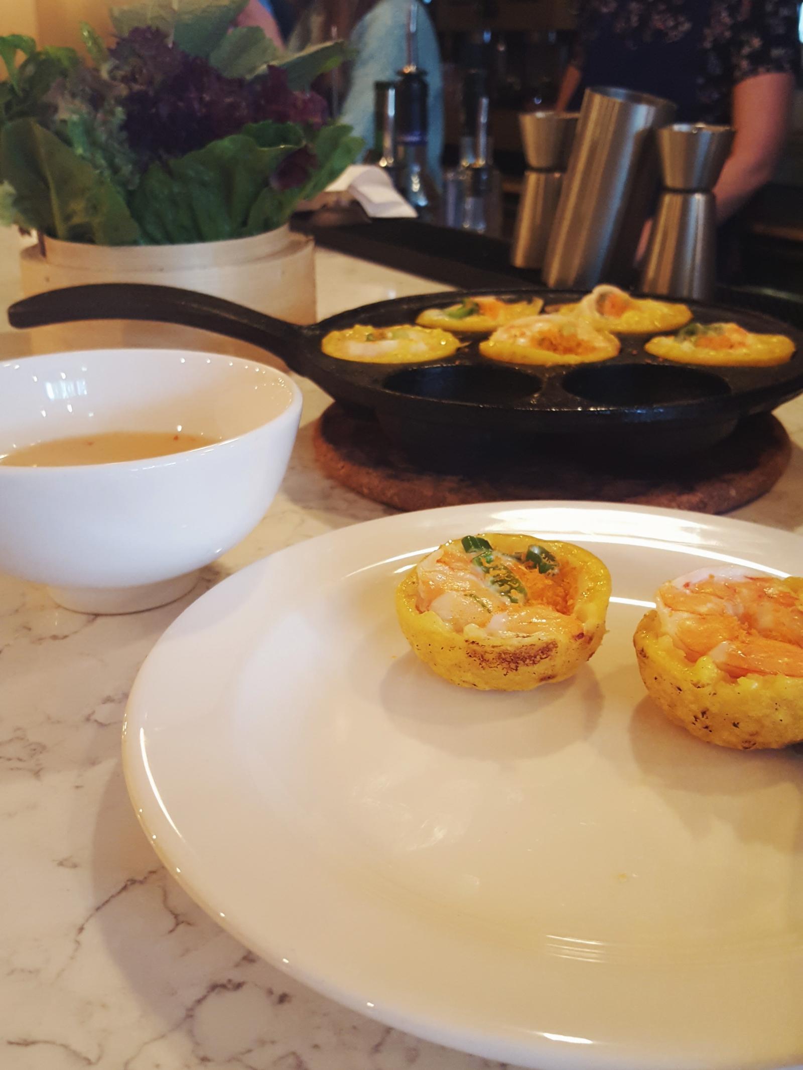 Banh khot pancakes at Banh Banh