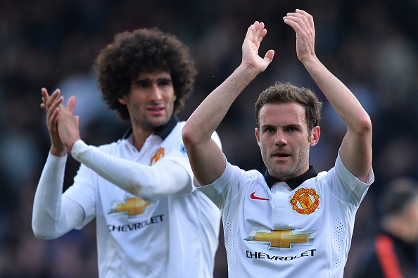 Juan Mata and Marouane Fellaini
