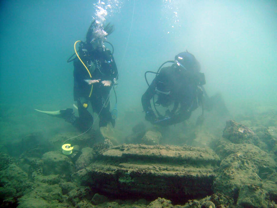 ancient city underwater greece