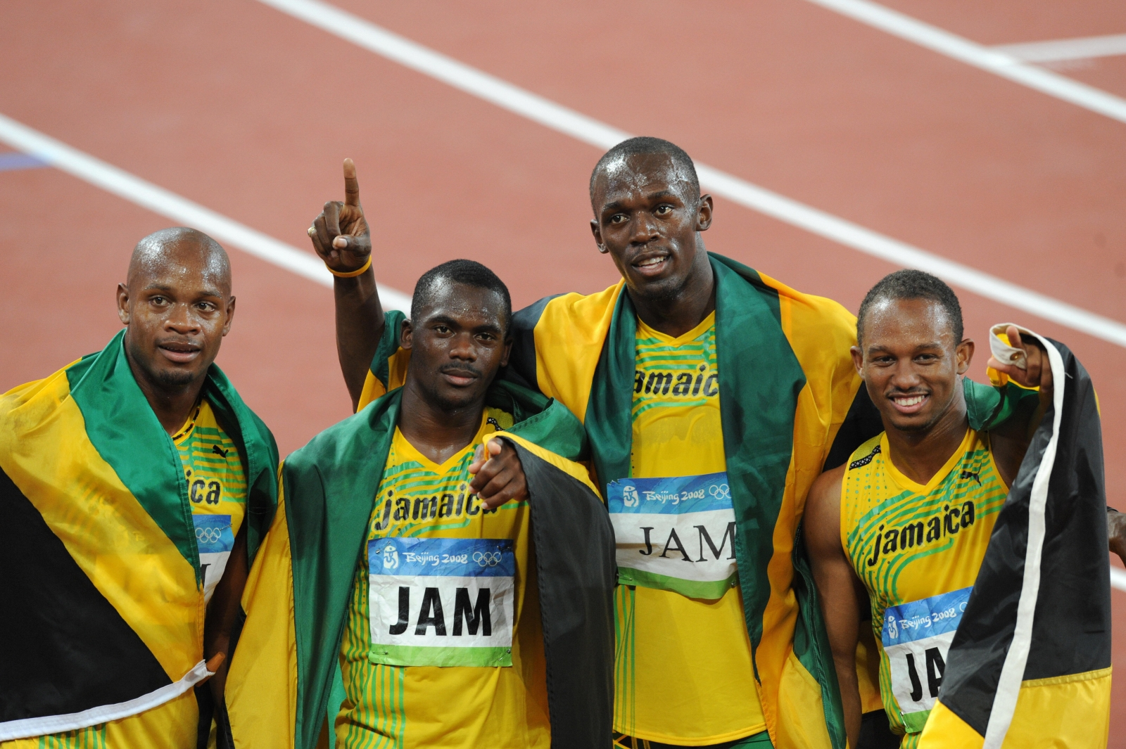 The Jamaican team in 2008