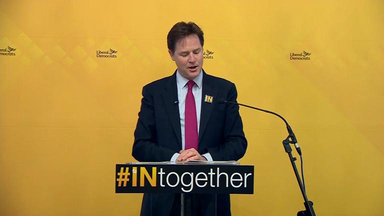 Nick Clegg calls Boris Johnson 'Donald Trump with a Thesaurus'